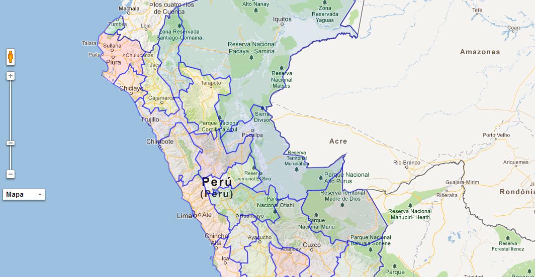 kml de los departamentos del Perú