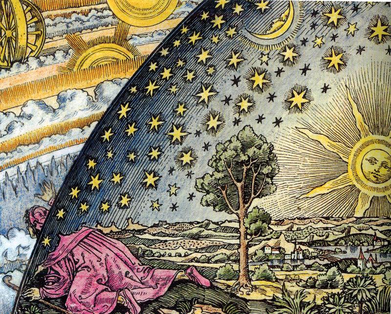 El grabado Flammarion - Versión coloreada