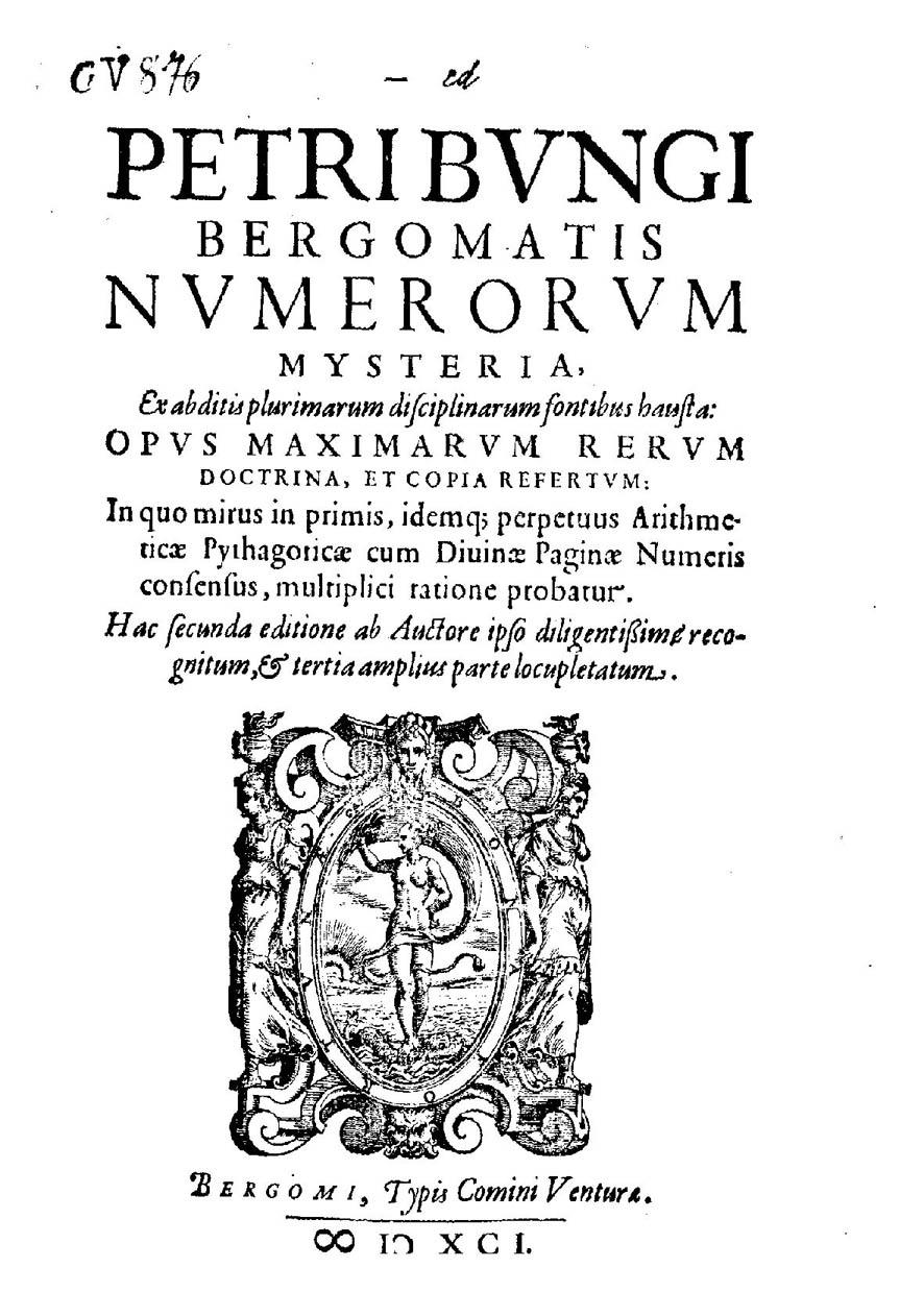 Pietro Bongo - numerorum mysteria - Numerología